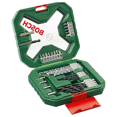 Bosch 2607010608 34-Piece X-Line Classic Screwdriver and Drill Bit Set.