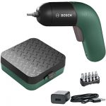 Bosch IXO 6th Generation Green with storage case and accessories.