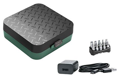 Bosch IXO storage case and accessories.