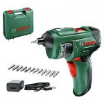 Bosch PSR Select Cordless Screwdriver with accessories.