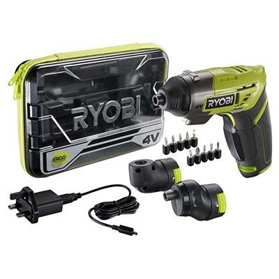 Ryobi ERGO-A2 4V Cordless Screwdriver Kit.