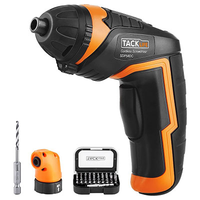 TACKLIFE SDP51DC 3.6V Electric Screwdriver with bundled accessories..